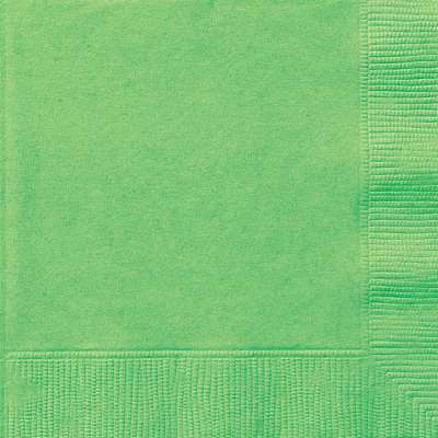 Luncheon Napkins x 20 Lime Green
