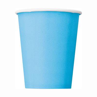 9oz Paper Cups x 8 Powder Blue