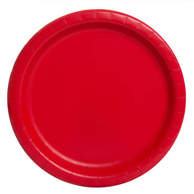 "9"" Dinner Plates x 8 Ruby Red"