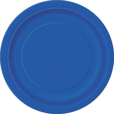 "9"" Dinner Plates x 8 Royal Blue"