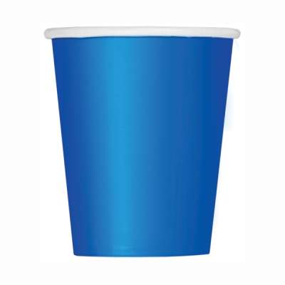 9oz Paper Cups x 8 Royal Blue