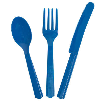 Cutlery x 18 Pieces Royal Blue