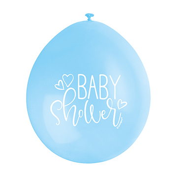 9″ Baby Shower Blue Assorted Colours Latex Balloons (Pack 10)