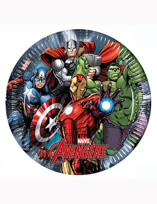 Avengers Party Plates 23cm (Pack of 8)
