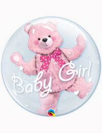 """24"""" Double Bubble Baby Pink Bear"""