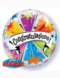 "Bubble Balloon Congratulations Banner Blast 22"""