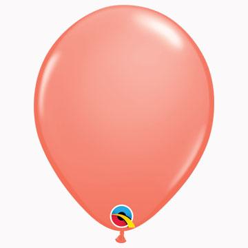 "11"" Plain Fashion Coral Latex Balloons (Pack 6)"