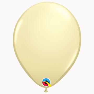 "11"" Plain Fashion Ivory Silk Latex Balloons (Pack 6)"