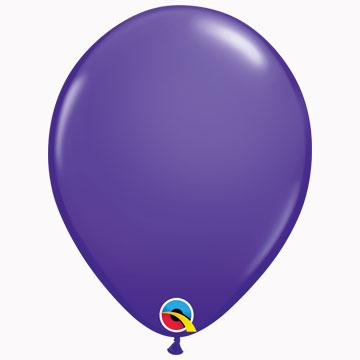 "11"" Plain Fashion Purple Violet Latex Balloons (Pack 6)"