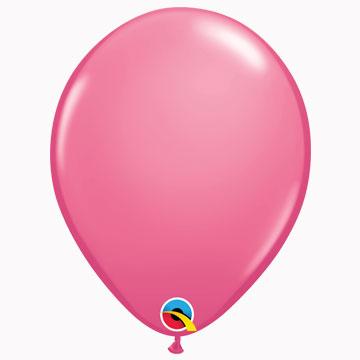 "11"" Plain Fashion Rose Latex Balloons (Pack 6)"