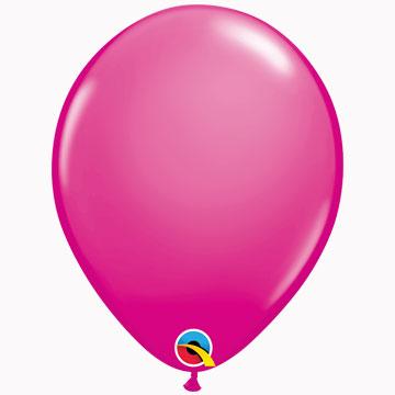 "11"" Plain Fashion Wild Berry Latex Balloons (Pack 6)"