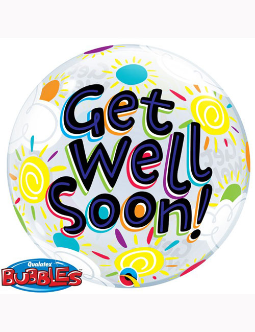 Bubble Balloon Get Well Soon Sunny Day 22""
