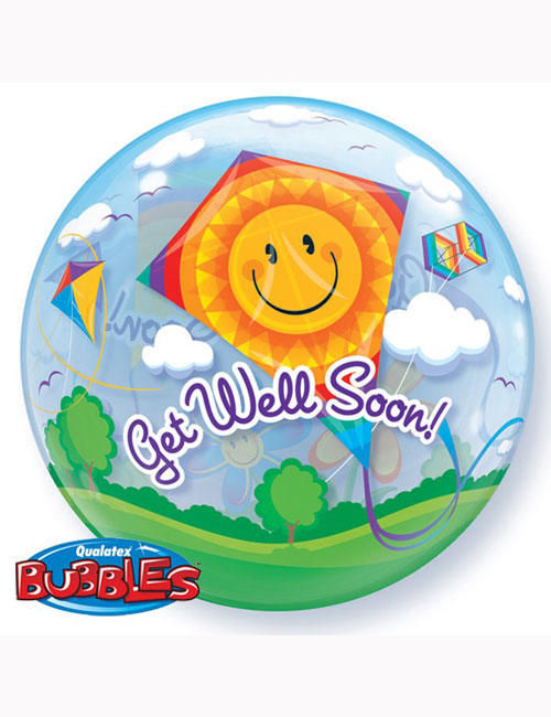 Bubble Balloon Get Well Soon Kites 22""