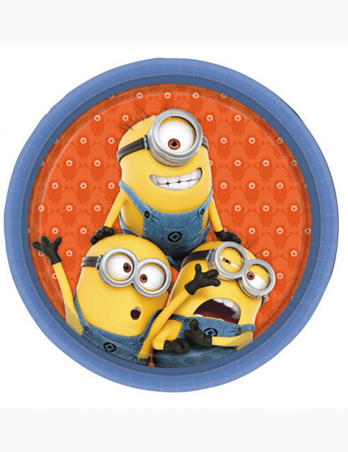 Despicable Me Minions Party Plates (Pack of 8)