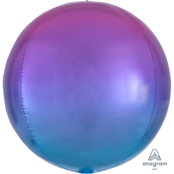 "Orbz Foil Balloon 15"" x 16"" Ombre Pink and Blue"