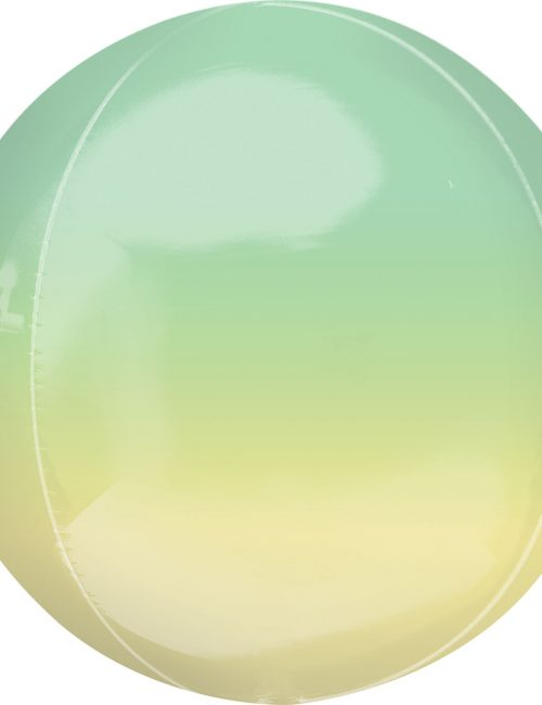 "Orbz Foil Balloon 15"" x 16"" Ombre Yellow and Green"