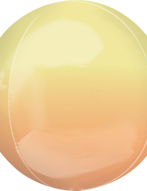 "Orbz Foil Balloon 15"" x 16"" Ombre Yellow and Orange"