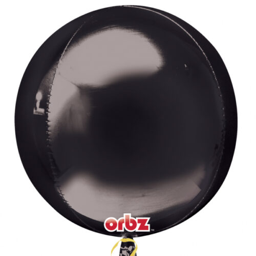 "Orbz Foil Balloon 15"" x 16"" Black"