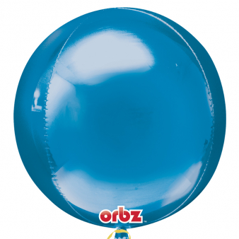 "Orbz Foil Balloon 15"" x 16"" Blue"