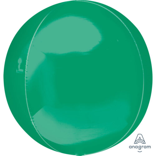 "Orbz Foil Balloon 15"" x 16"" Green"