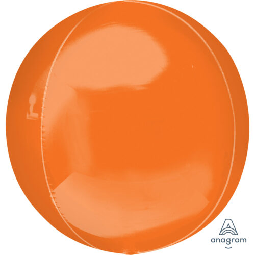 "Orbz Foil Balloon 15"" x 16"" Orange"
