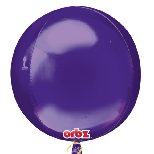 "Orbz Foil Balloon 15"" x 16"" Purple"