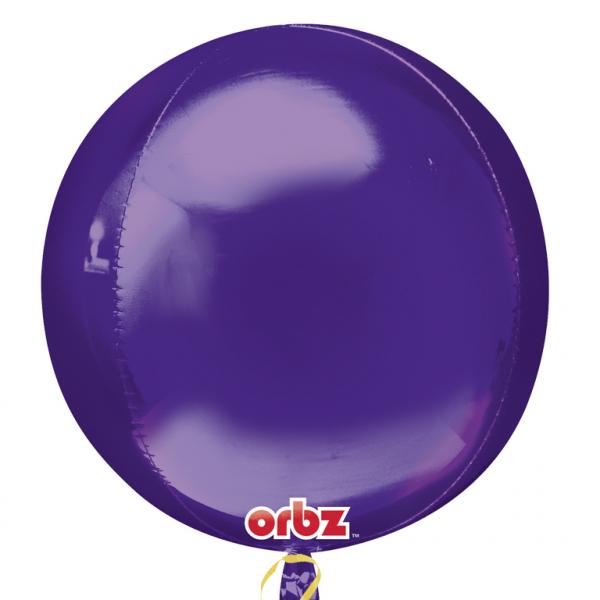 """Orbz Foil Balloon 15"""" x 16"""" Purple"""