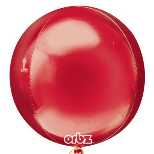 "Orbz Foil Balloon 15"" x 16"" Red"