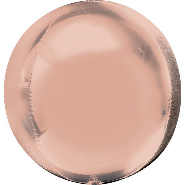 "Orbz Foil Balloon 15"" x 16"" Rose Gold"