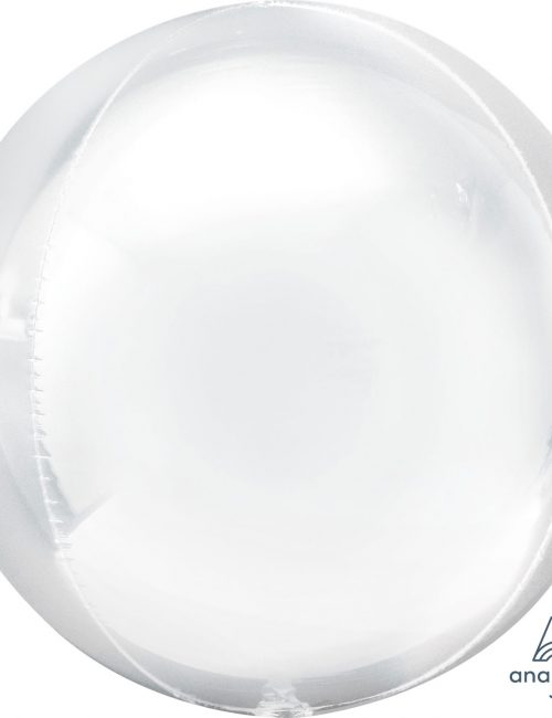 "Orbz Foil Balloon 15"" x 16"" White"