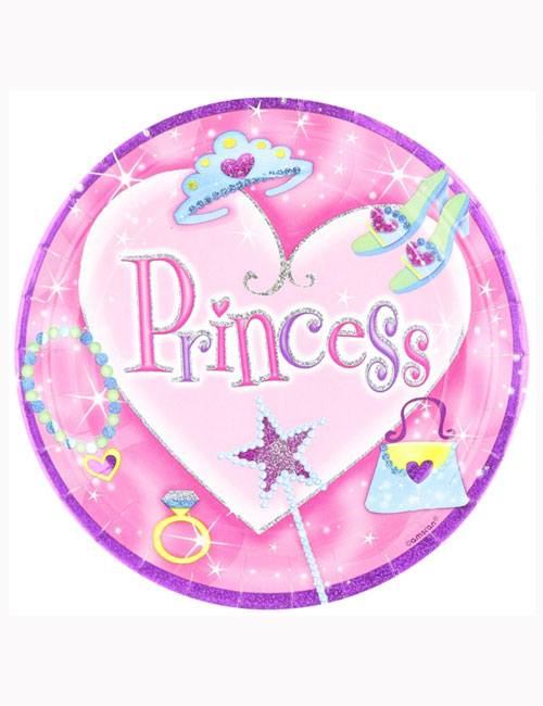 Princess Party Plates 23cm (Pack of 8)