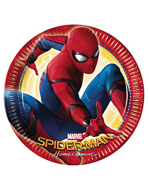 Spiderman Homecoming Party Plates 23cm (Pack of 8)