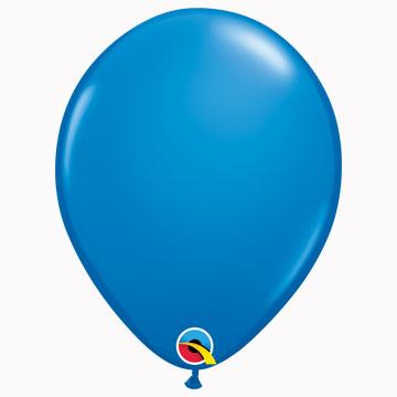 "11"" Plain Standard Dark Blue Latex Balloons (Pack 6)"