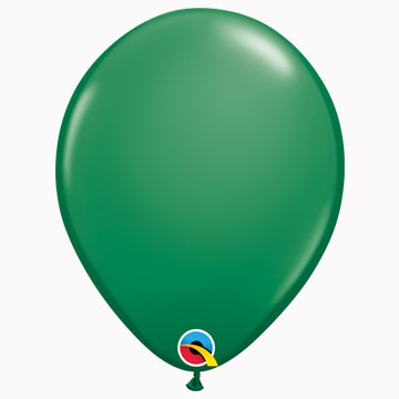 "11"" Plain Standard Green Latex Balloons (Pack 6)"