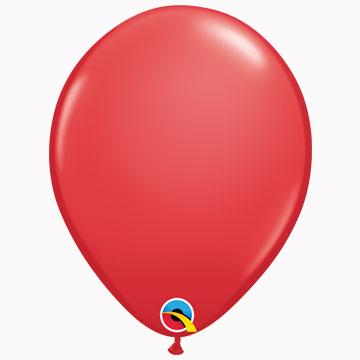 "11"" Plain Standard Red Latex Balloons (Pack 6)"