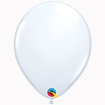 "11"" Plain Standard White Latex Balloons (Pack 6)"