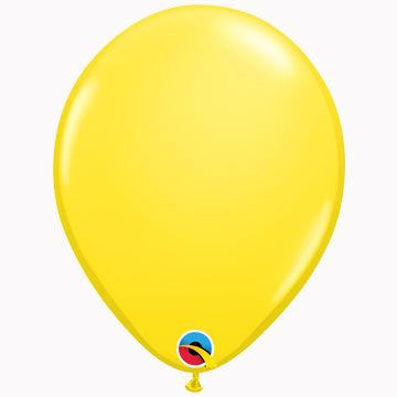 "11"" Plain Standard Yellow Latex Balloons (Pack 6)"