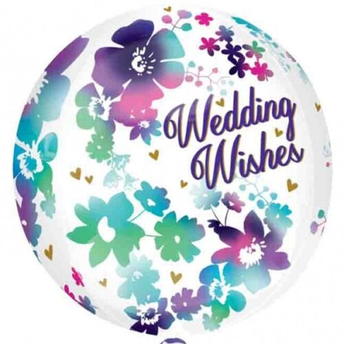 Orbz Watercolour Wedding Wishes