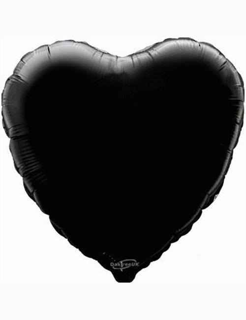 "18""-Black-Heart-Foil-Balloon"