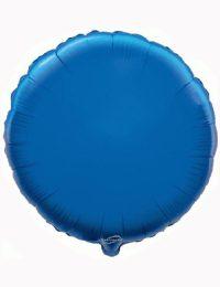 "18"" Blue Round Foil Balloon"