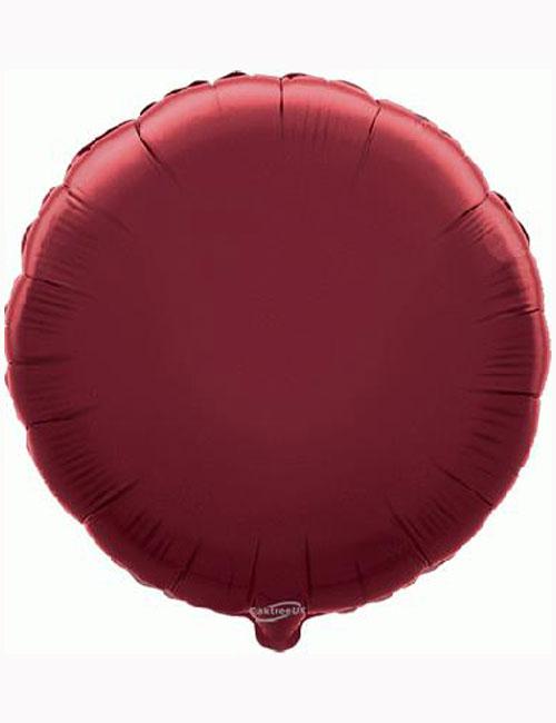 18'-Burgundy-Round-Foil-Balloon
