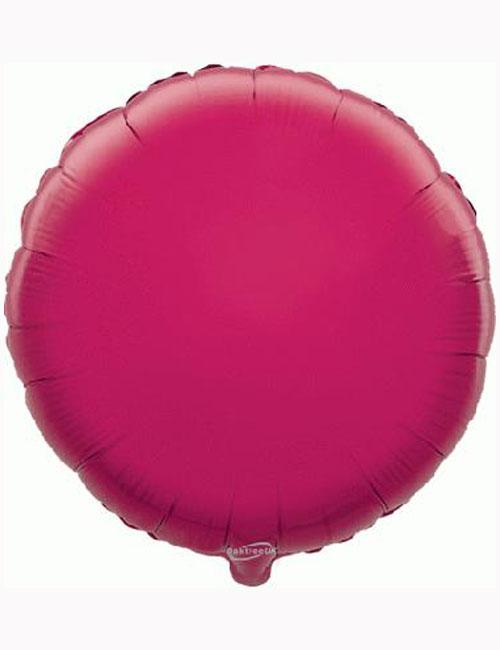 18' Fuchsia Round Foil Balloon