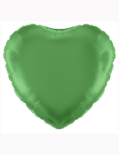 "18""-Green-Heart-Foil-Balloon"