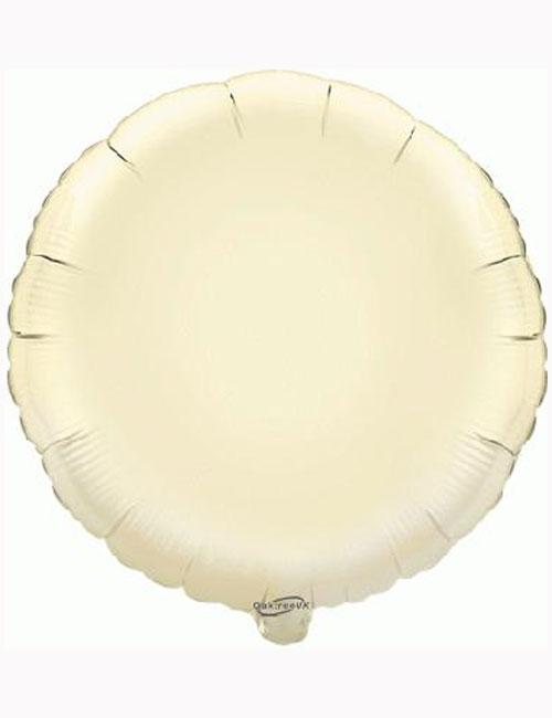 18'-Ivory-Round-Foil-Balloon