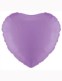 "18""-Lavender-Heart-Foil-Balloon"