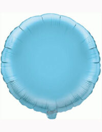 18' Light Blue Round Foil Balloon