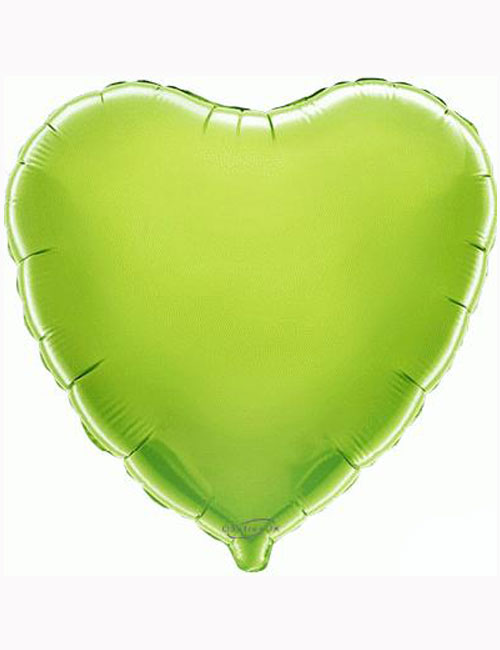 "18""-Lime-Green-Heart-Foil-Balloon"