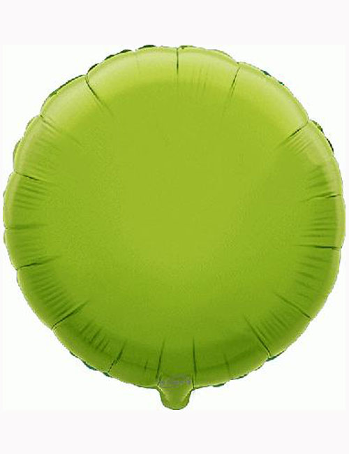 18'-Lime-Green-Round-Foil-Balloon