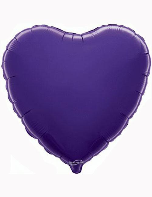 """18""""-Purple-Heart-Foil-Balloon"""