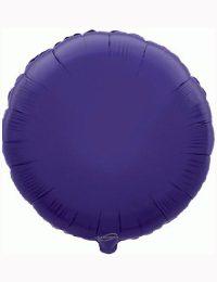 18' Purple Round Foil Balloon